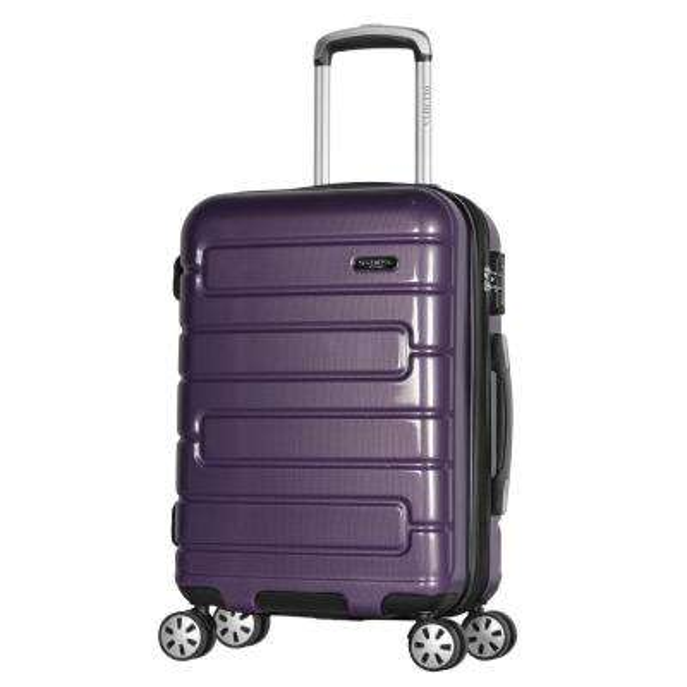 Nema 2-Piece Purple PC Exp. Carry-On Hardcase Spinner Set with TSA Lock