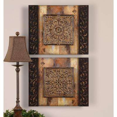 "24 in. x 20 in. ""Ornamentational"" Wall Art (2-Set)"