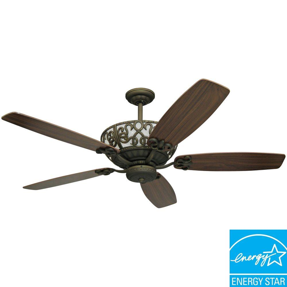 Yosemite Home Decor Queenie 60 in. Ceiling Fan with Oil Rubbed Bronze Finish-DISCONTINUED