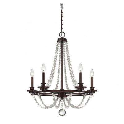 Kevin 5-Light Mohican Bronze Chandelier