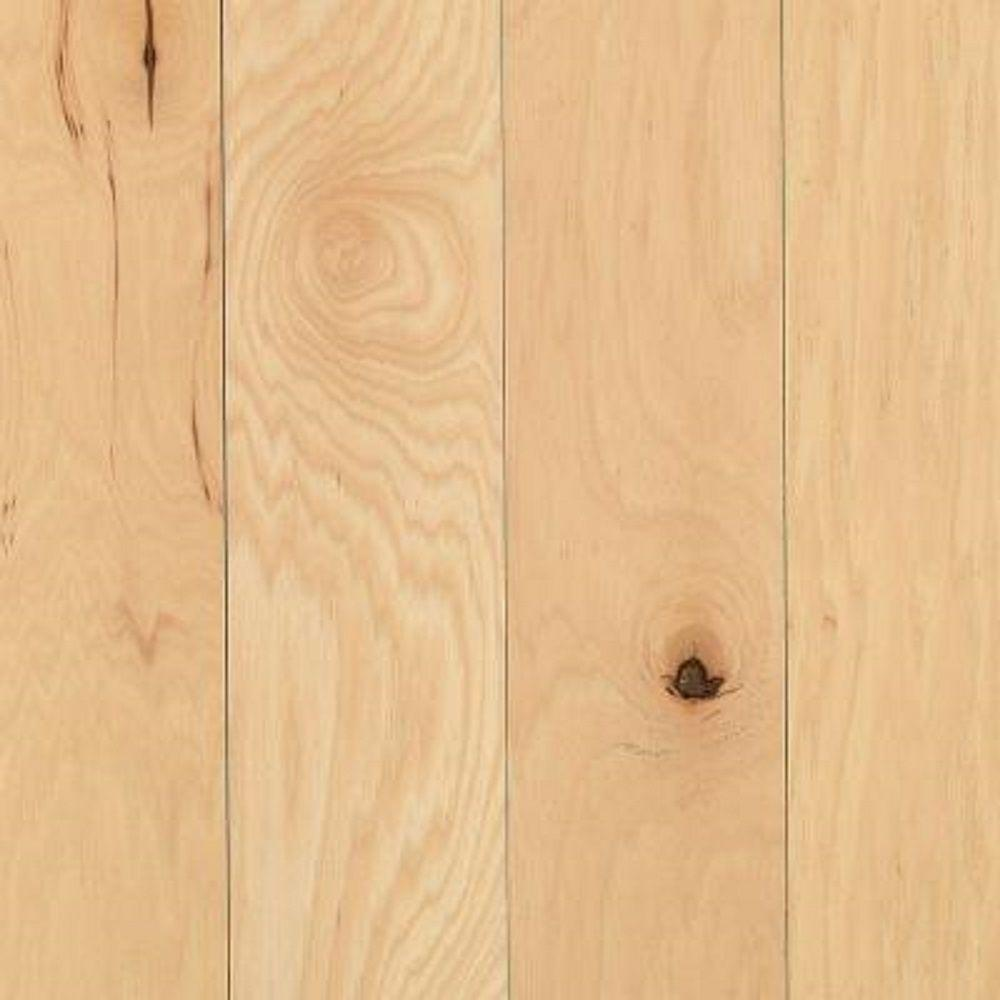 Mohawk Take Home Sample - Portland Hickory Natural Solid Hardwood Flooring - 5 in. x 7 in.