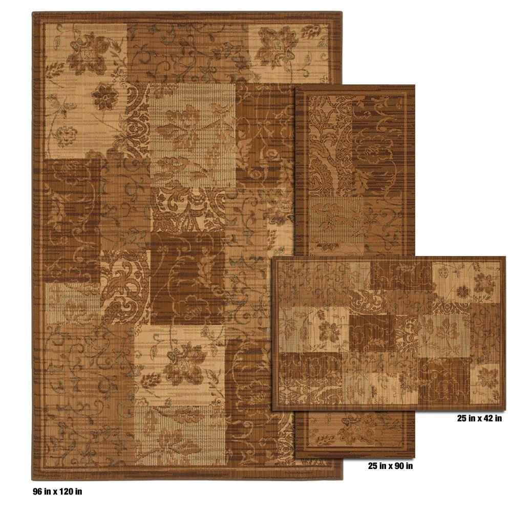 Mohawk Home Copenhagan Dark Gold 8 ft. x 10 ft. 3 Piece Rug Set- DISCONTINUED