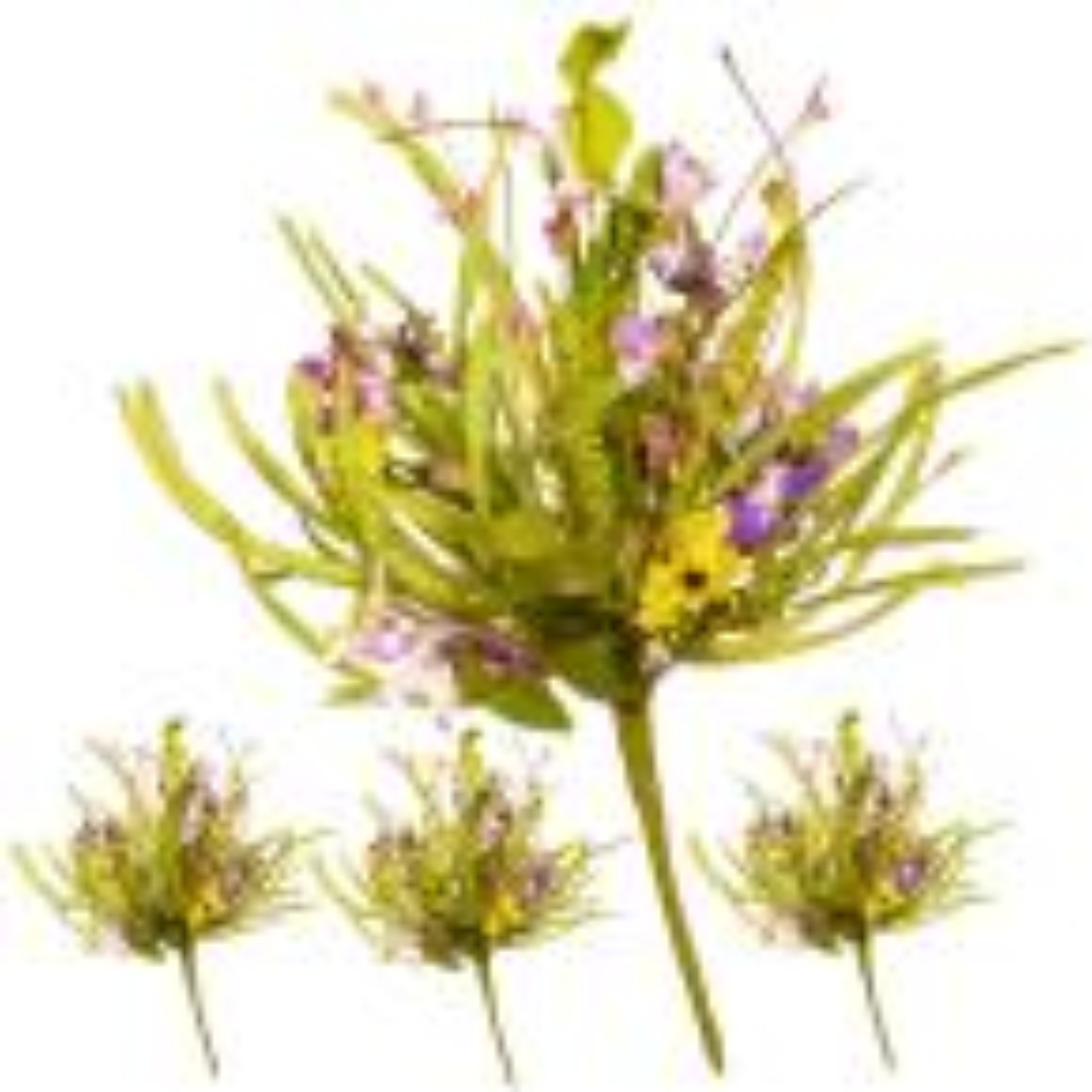 20 in. Purple Flower Pick (Set of 4)
