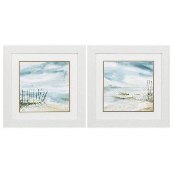 Homeroots Victoria White Gallery Frame Set Of 2 365270 The Home Depot