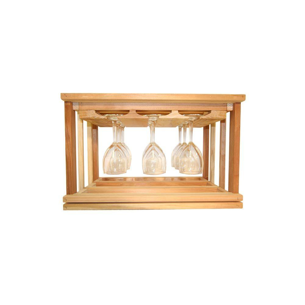 Mini Stack Series-Glass Rack Unstained 11-15/16 in. H x 18-11/16 in.