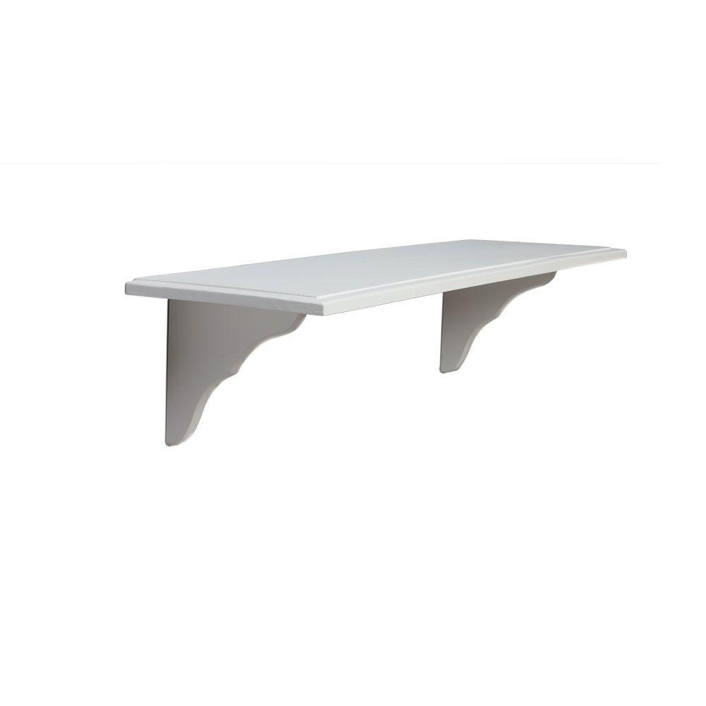 Knape & Vogt 9.5 in. x 35 in. White Decorative Shelf Kit