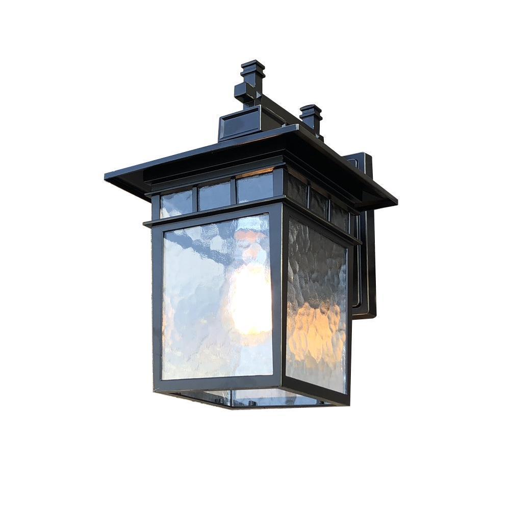 Y Decor Cullen 1-Light Imperial Black Outdoor Wall Lantern