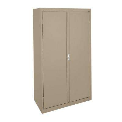 System Series 36 in. W x 64 in. H x 18 in. D Tropic Sand Double Door Storage Cabinet with Adjustable Shelves