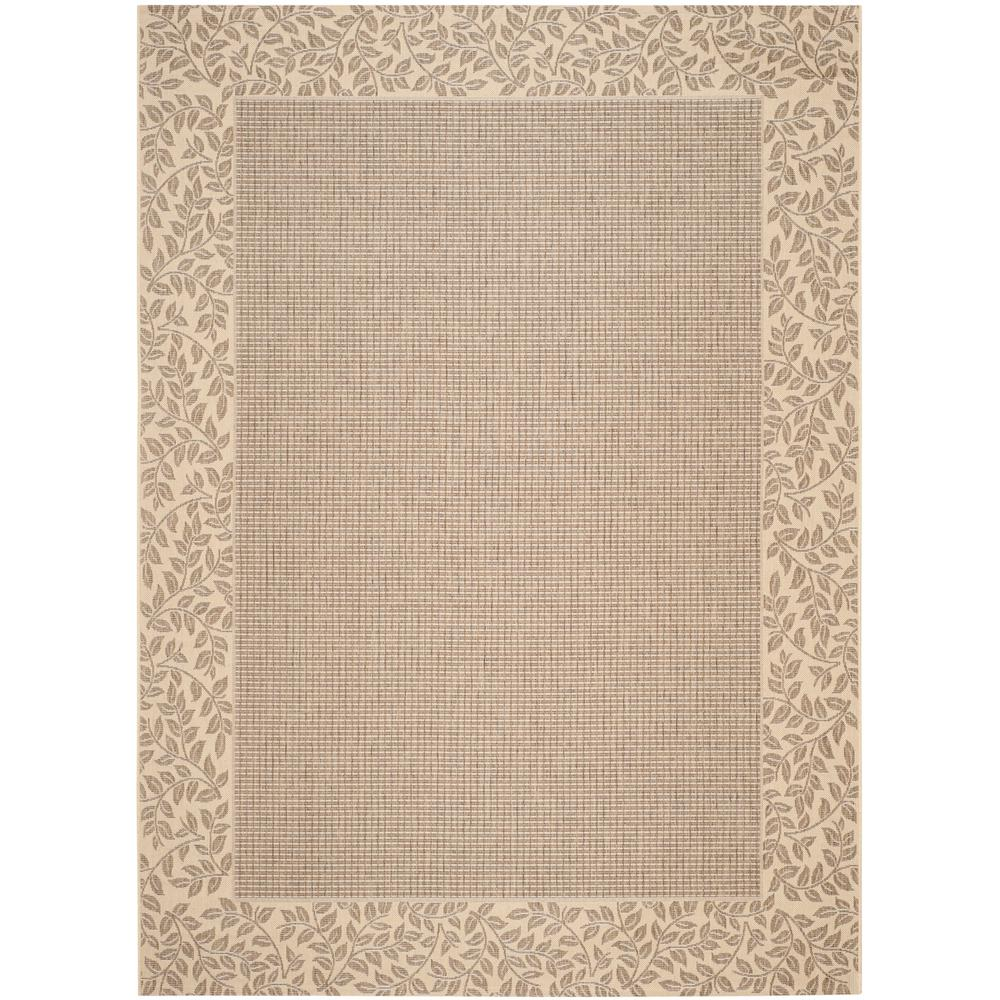 Courtyard Brown/Natural 6 ft. 7 in. x 9 ft. 6 in.