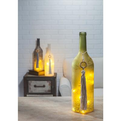 Misted Multi-Colored Decorative Wine Bottles with Tassel (Set of 3)