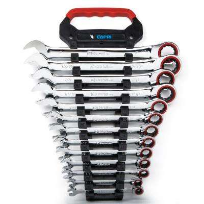 100-Tooth SAE Ratcheting Wrench Set (13-Piece)