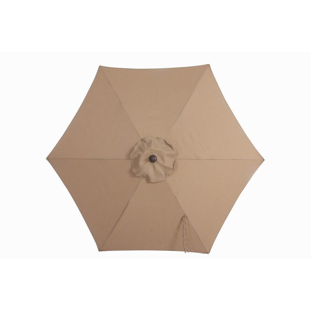 Hampton Bay 712 ft Steel Patio Umbrella in PeriwinkleUTS00203E