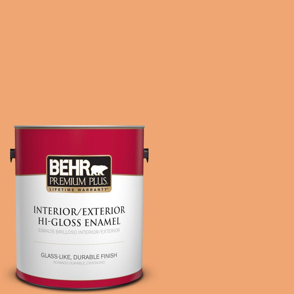 1 gal. #HDC-SP16-04 Apricot Jam Hi-Gloss Enamel Interior/Exterior Paint