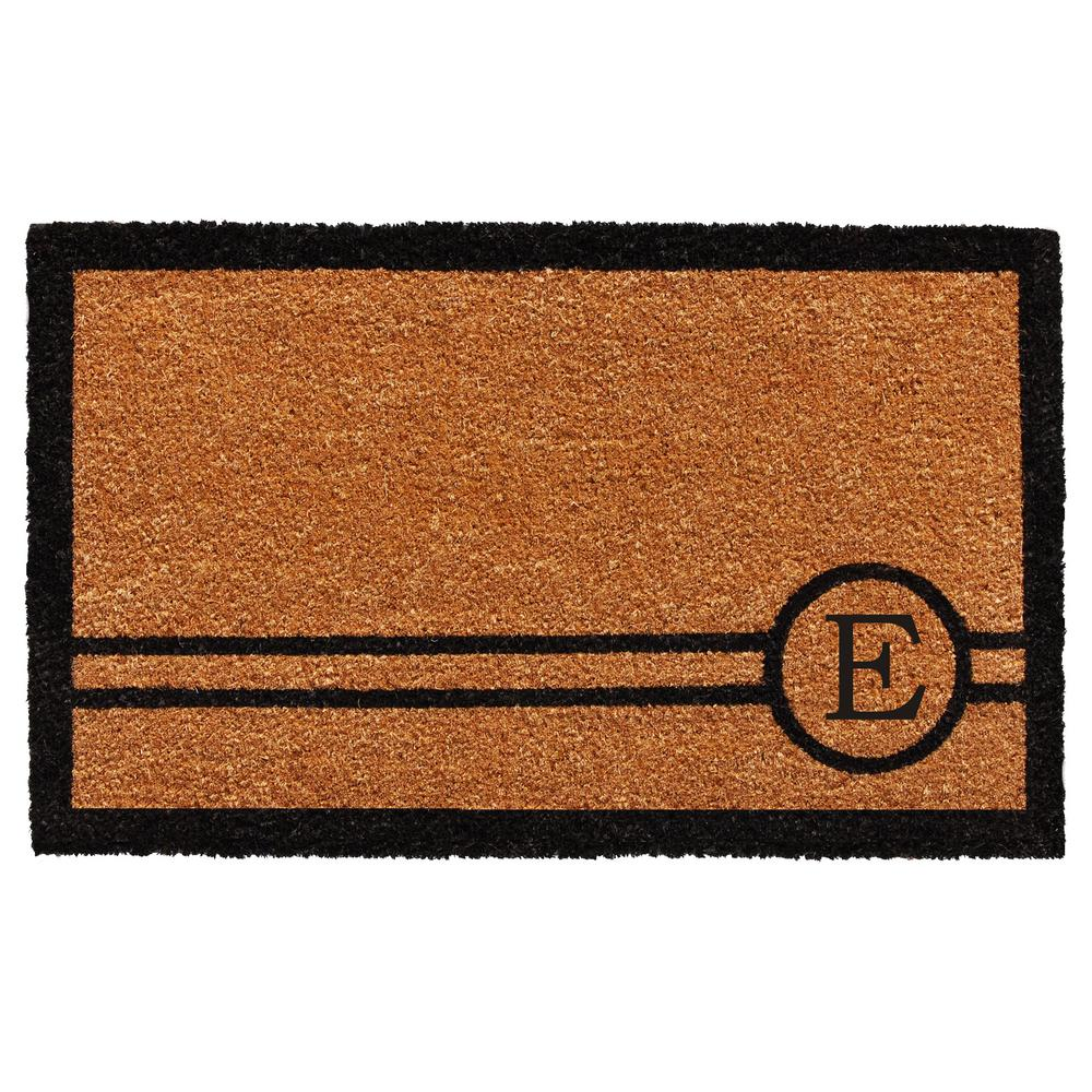 Chelsea 18 in. x 30 in. Monogram E Door Mat