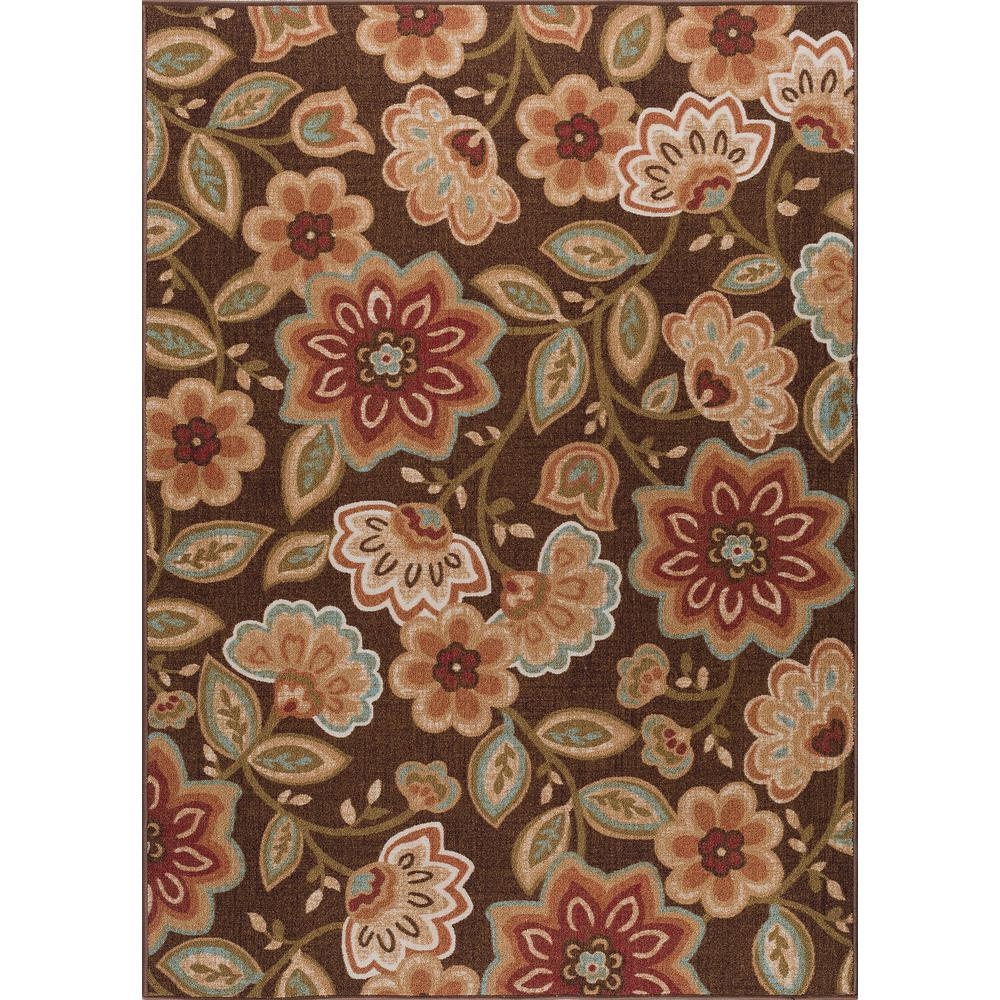 tayse rugs majesty brown 5 ft x 7 ft transitional area rug mjs1708 5x7 the home depot. Black Bedroom Furniture Sets. Home Design Ideas