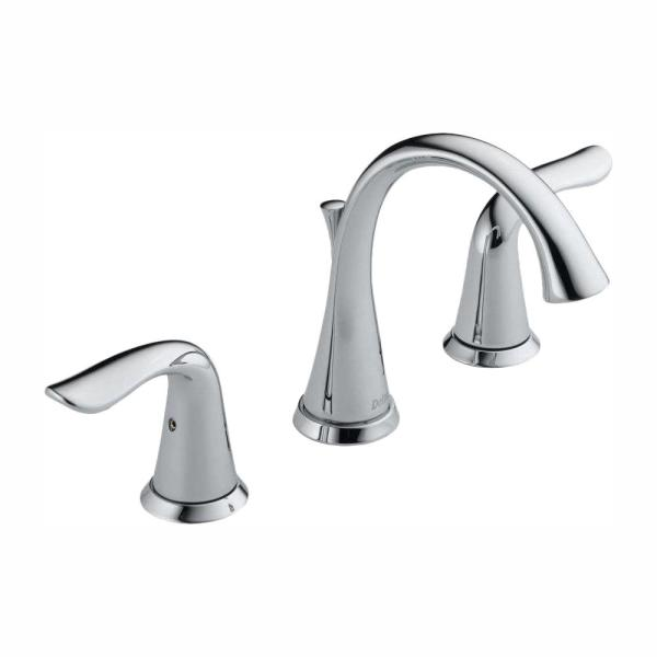 Lahara 8 in. Widespread 2-Handle Bathroom Faucet with Metal Drain Assembly in Chrome