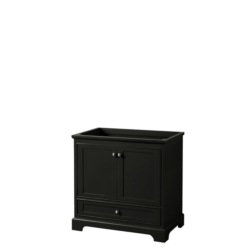 Deborah 35.25 in. Single Bathroom Vanity Cabinet Only in Dark Espresso