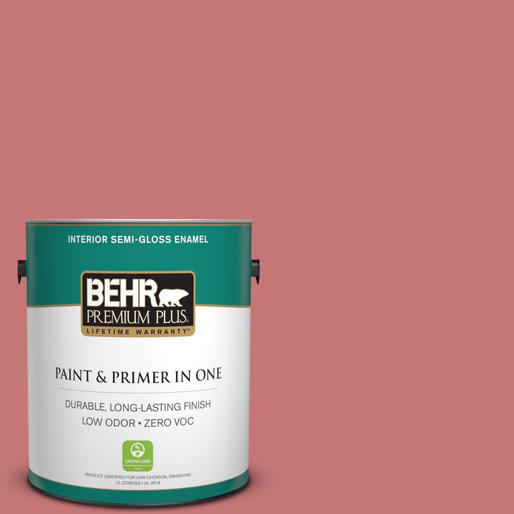 1 gal. #150D-5 Deep Bloom Semi-Gloss Enamel Zero VOC Interior Paint