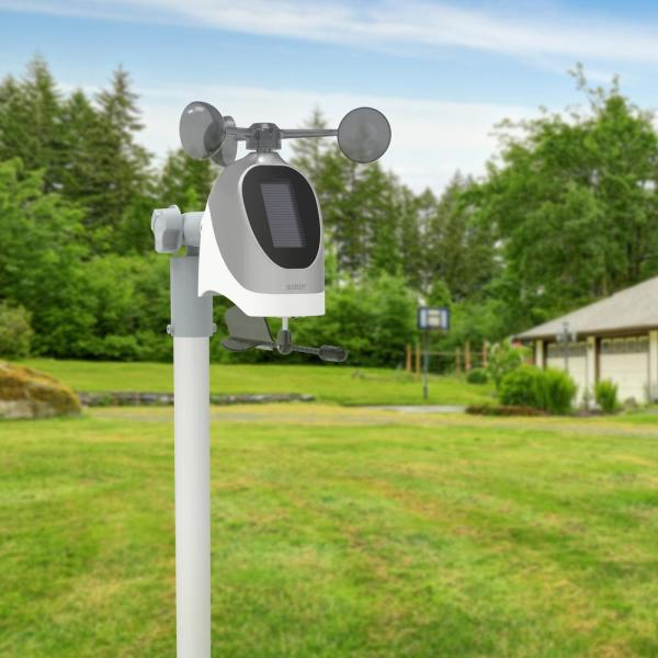 La Crosse Technology Wireless Combo Weather Station With New Breeze Solar Wind Sensor S81120 Int The Home Depot