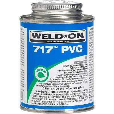 8 oz. PVC 717 Heavy Duty Low VOC Cement in Gray