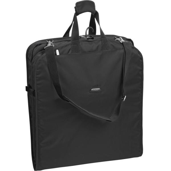 WallyBags 42 in. Black Suit Length Carry-On Garment Bag with 2-Pockets
