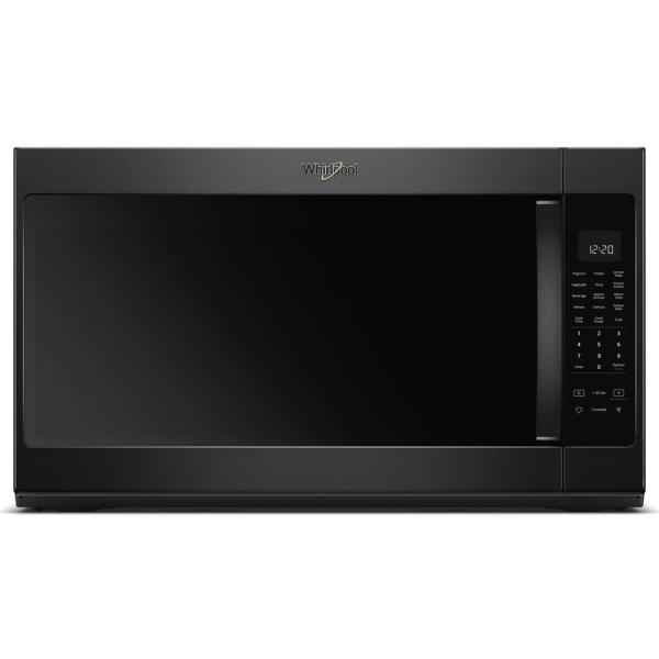 2.1 cu. ft. Over the Range Microwave in Black with Steam Cooking