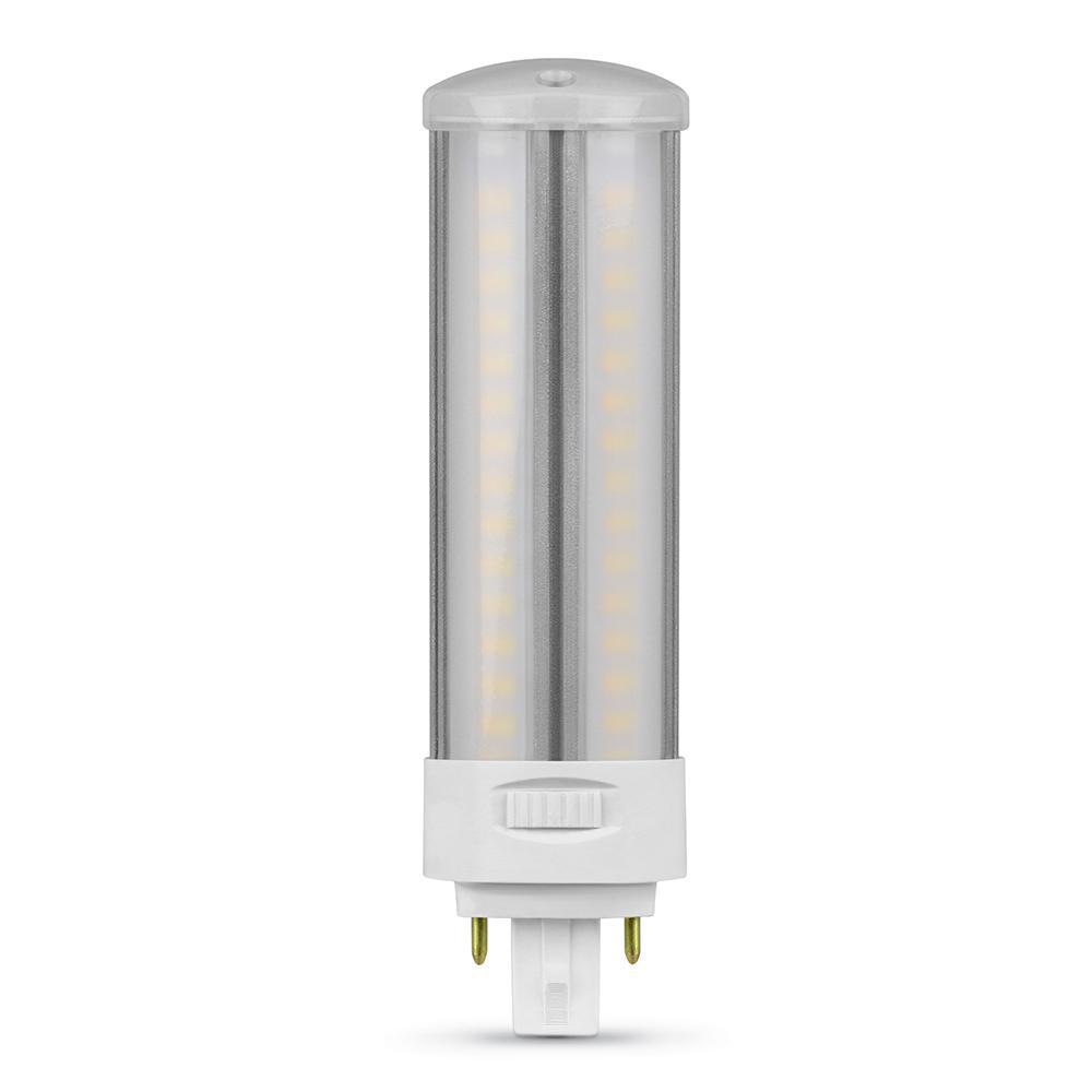 Feit Electric 13 Watt 18 Watt 26 Watt Equivalent Pl Horizontal 4 Pin Universal Color Select 2700k 3500k 4100k Led Light Bulb 1 Bulb Pl26ab H Cct Ledhdrp The Home Depot
