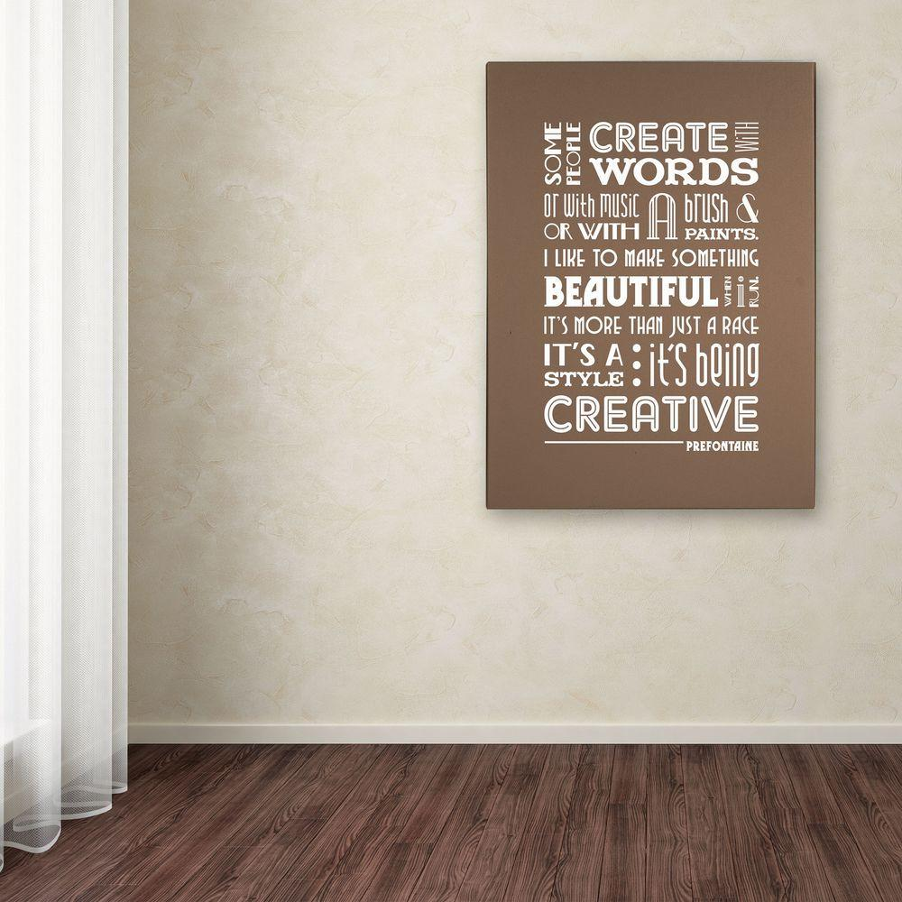 32 in. x 26 in. Creative Running II Canvas Art