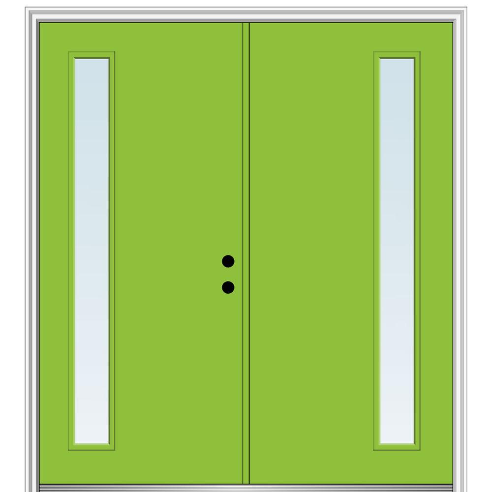 Mmi Door 72 In X 80 In Viola Left Hand Inswing 1 Lite Clear Low E Painted Fiberglass Smooth Prehung Front Door Z0348589l The Home Depot