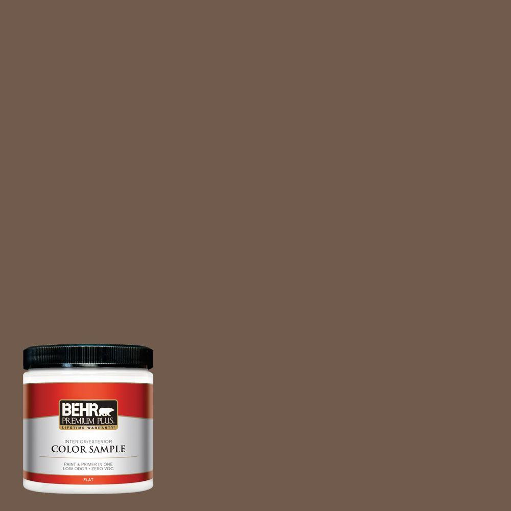 Ppf 52 Rich Brown Flat Interior Exterior Paint And Primer In One Sample