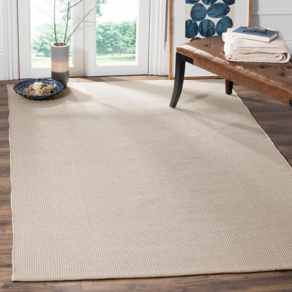 Safavieh Montauk Ivory Gray 3 Ft X 5 Ft Area Rug Mtk345a 3 The Home Depot
