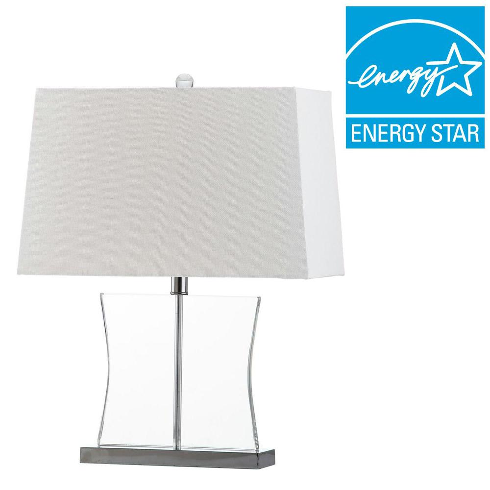 Safavieh Salcha 23 5 In Clear Table Lamp Lit4285a The Home Depot