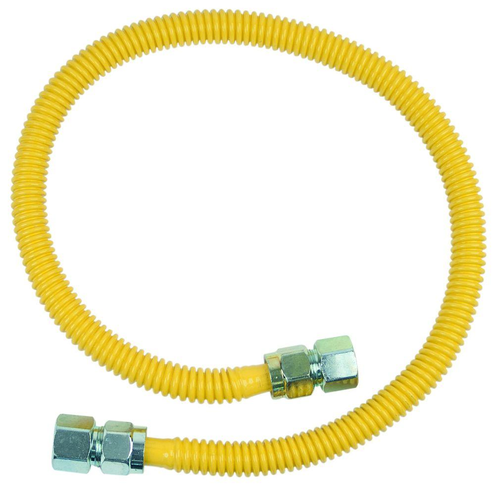 null ProCoat 3/4 in. FIP x 3/4 in. FIP x 36 in. Stainless Steel Gas Connector 5/8 in. O.D. (125,000 BTU)
