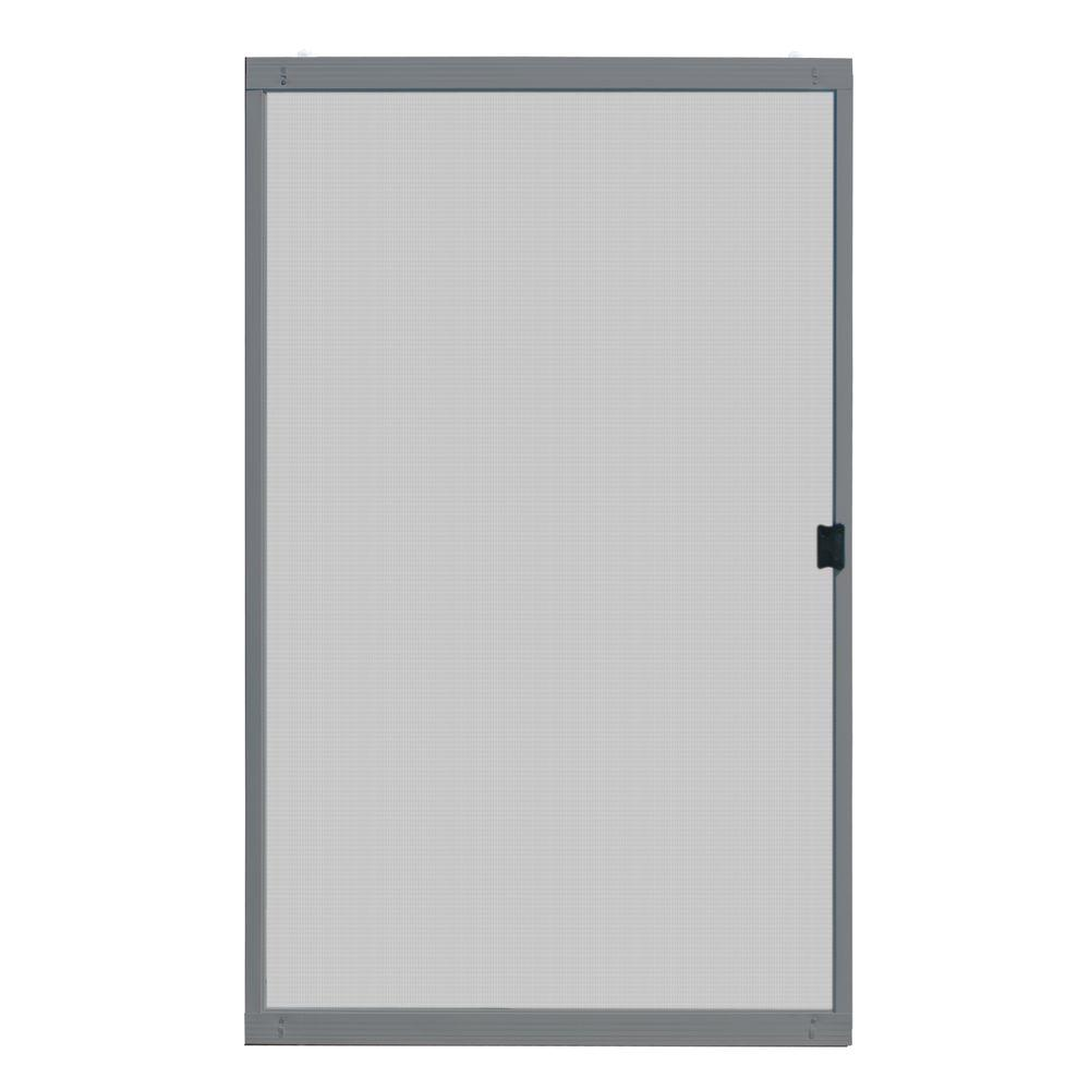 Unique Home Designs 48 In X 80 In Standard Grey Metal Sliding