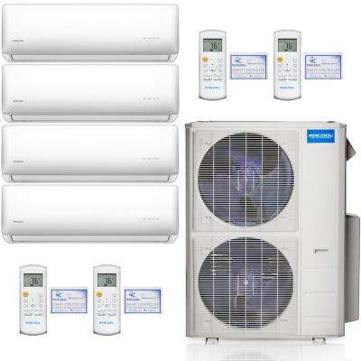 Olympus 48,000 BTU 4 Ton 4-Zone Ductless Mini Split Air Conditioner and Heat Pump, 25 ft. Install Kit - 230V/60Hz