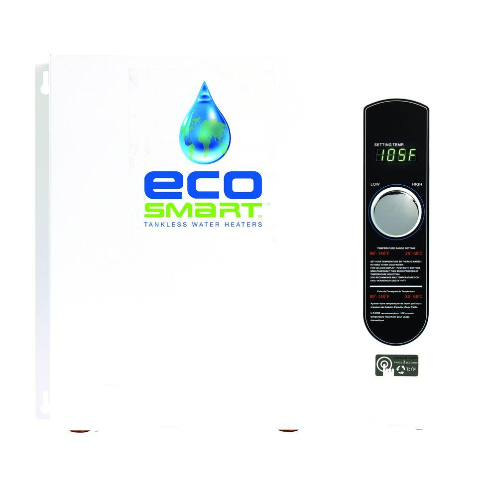 36 kW 240-Volt Self-Modulating 6 GPM Electric Tankless Water Heater with