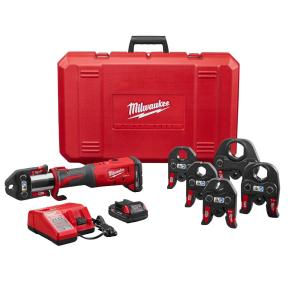 Milwaukee M18 18-Volt Lithium-Ion Brushless Cordless FORCE LOGIC Press Tool Kit with 1/2 inch - 2 inch Jaws... by Milwaukee