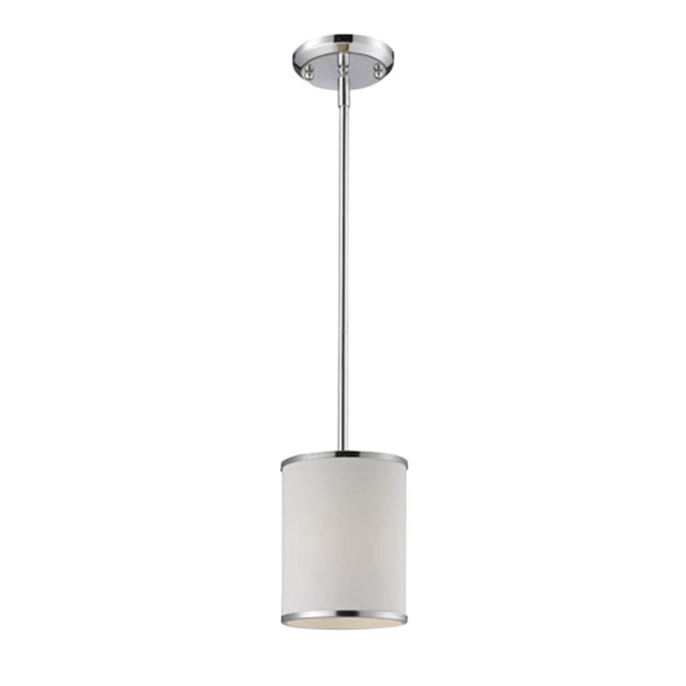 Lawrence 1-Light Chrome Incandescent Ceiling Pendant