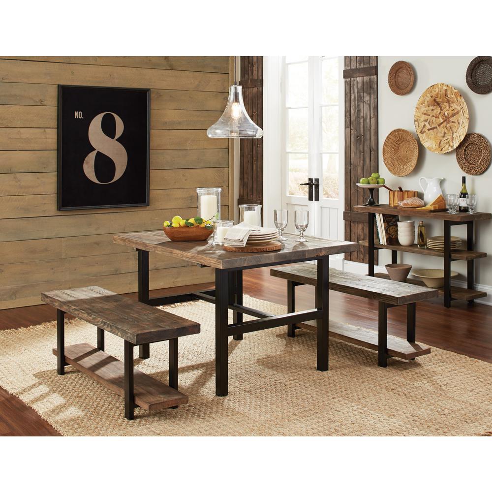 Prime Alaterre Furniture Pomona Rustic Natural Bench Amba0320 Ibusinesslaw Wood Chair Design Ideas Ibusinesslaworg