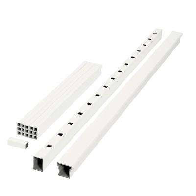 ArmorGuard Enclave 70 in. White Composite Rail Kit