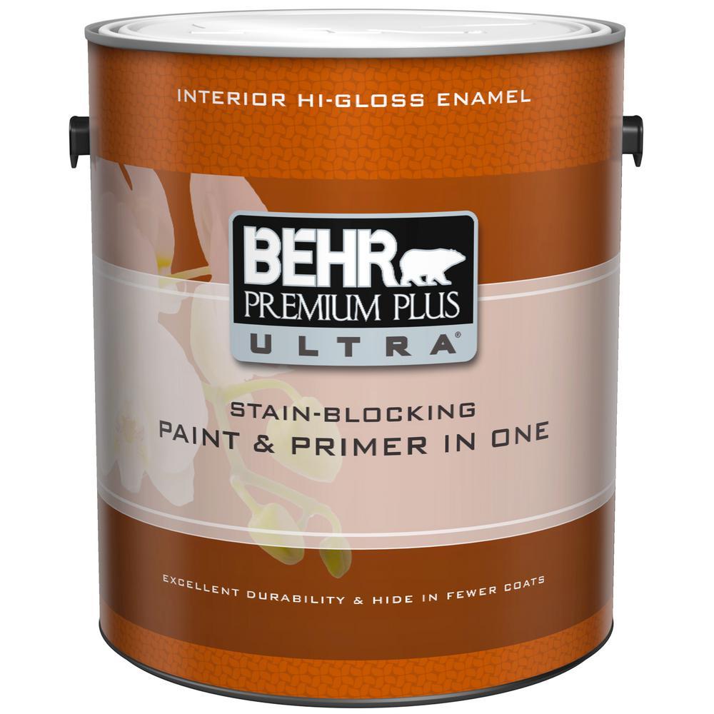 1 gal. Ultra-Pure White Hi-Gloss Interior Paint