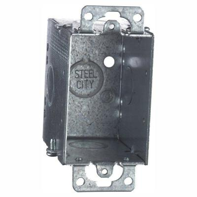1-Gang 3 in. 12.5 cu. in. Old Work Metal Electrical Switch and Outlet Box (Case of 25)