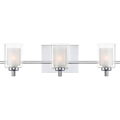 Kolt 3-Light Polished Chrome Vanity Light