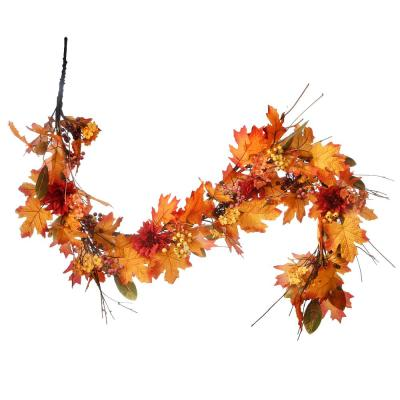 60 in. Artificial Harvest Garland with Pine Cones and Maple Leaves