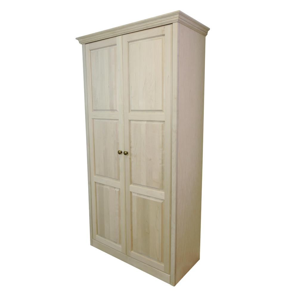 Face Frame Crown Style Unfinished 39 in. Wide 2-Door 6-Shelf Pantry