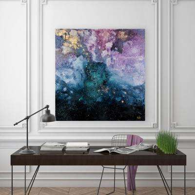 "40 in. x 40 in. ""Galaxy"" by Elias Printed and Painted Canvas Wall Art"