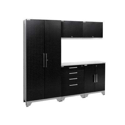Performance Diamond Plate 2.0 72 in. H x 78 in. W x 18 in. D Garage Cabinet Set in Black (6-Piece)