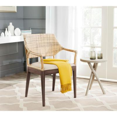 Carlo Honey Polyester Arm Chair
