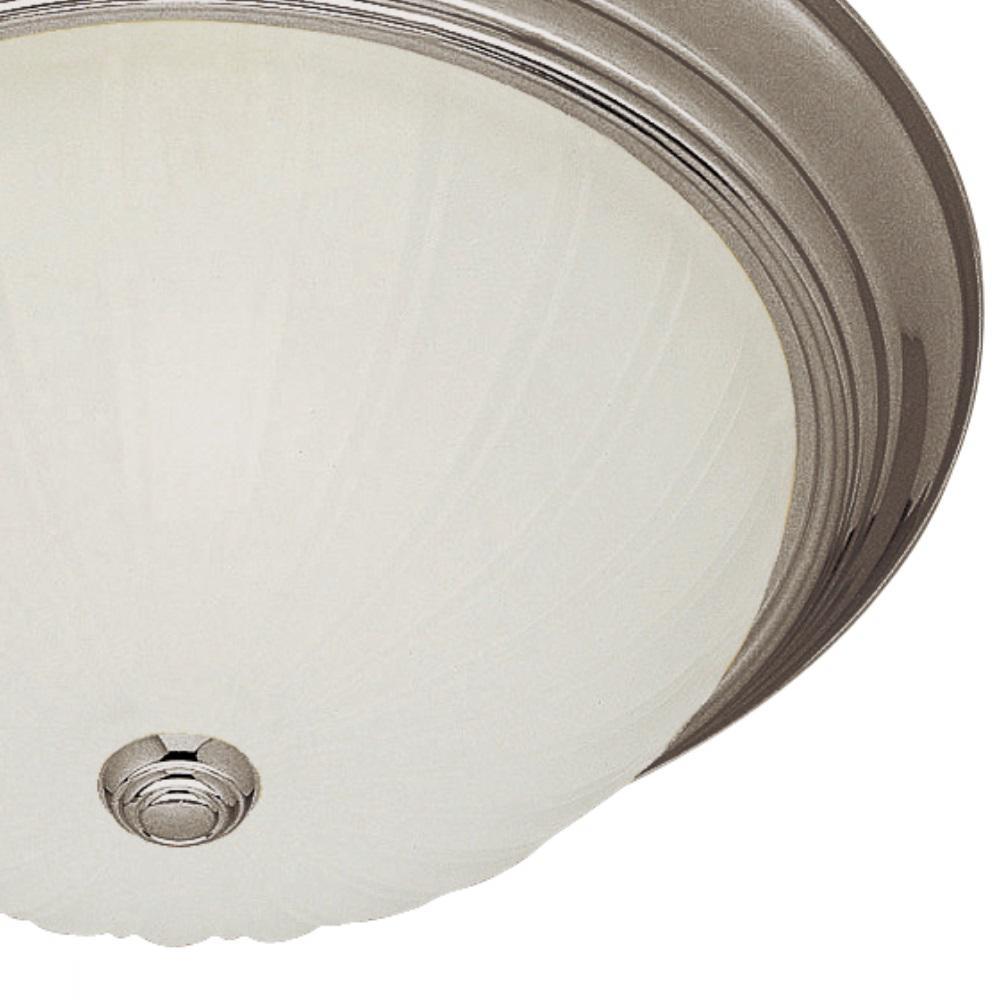 Bel Air Lighting 11 In 2 Light Brushed Nickel Cfl Flush Mount Ceiling Light Pl 13211 1 Bn The Home Depot