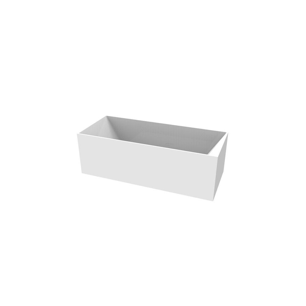 Badeloft USA Badeloft 69 in. Stone Resin Flatbottom Non-Whirlpool Bathtub in Glossy White